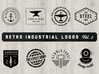 Retro Industrial Logos — Vol. 2