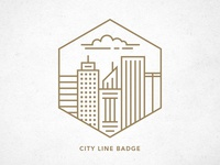 City Line Badge