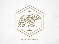 Bear Line Badge