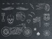 Hand-Drawn Vintage Racing