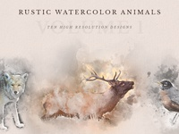 Rustic Watercolor Animals