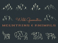 Geometric Mountains & Animals