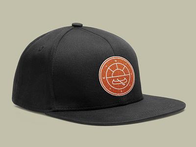 Camp Line Badge Mockups minimalist outdoors nature mockup hat canoe logo badge line