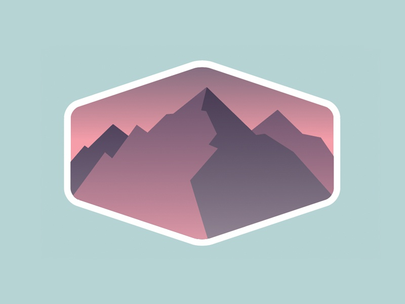 Outdoor Adventure Badges: Preview #2 logo hike camp national park landscape mountains badge