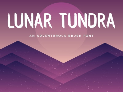 Lunar Tundra Brush Font outdoors nature travel adventure handmade textured tundra lunar rustic typography typeface font