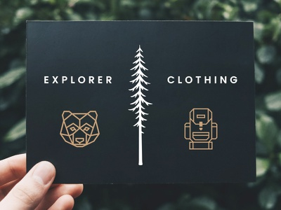 Hand-Drawn Tall Trees explore travel rustic handmade redwood pine woodland woods outdoors nature forest trees