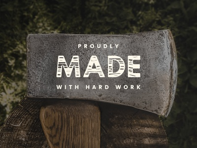 Timber Hitch Font Preview (work in progress) lumber forest woods timber rustic typography type font