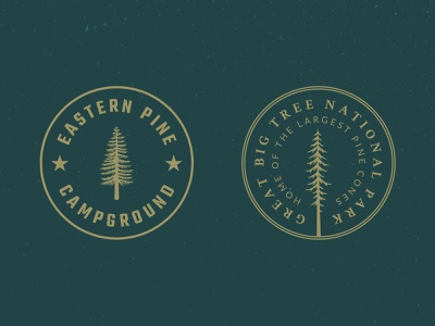 Tree Badge Logo Preview #1 forest woods camp hike outdoors nature logos badge tree vintage