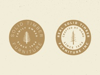 Tree Badge Logo Preview #2 trees rustic logo vintage vector outdoors nature