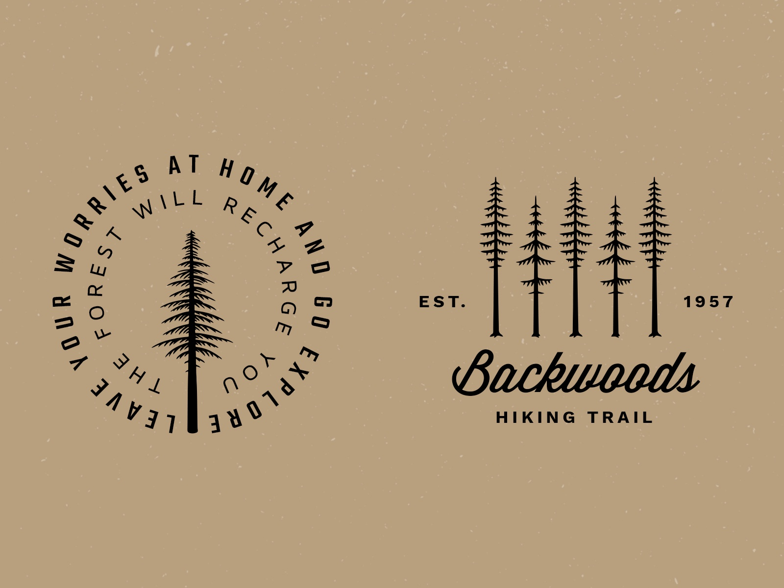Tree badge logo previews dribbble 4