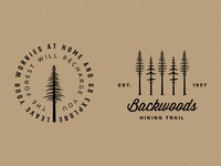 Tree Badge Logo Preview #3 trees illustration rustic camping handmade logo vintage vector outdoors nature