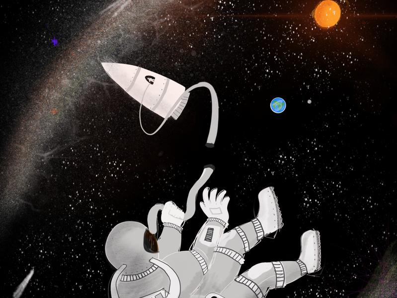 Is this it? procreate app procreate ipad pro ipad pro art graphics spaceman space illustration