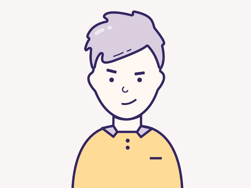 My new vector man boy monochrome illustrator debut psd adobe photoshop illustration vector