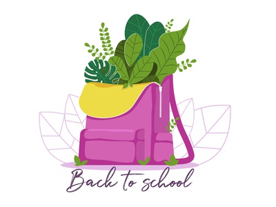 Back To School vector animaţie siglă ilustrare