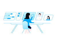 illustration for teambition landing page