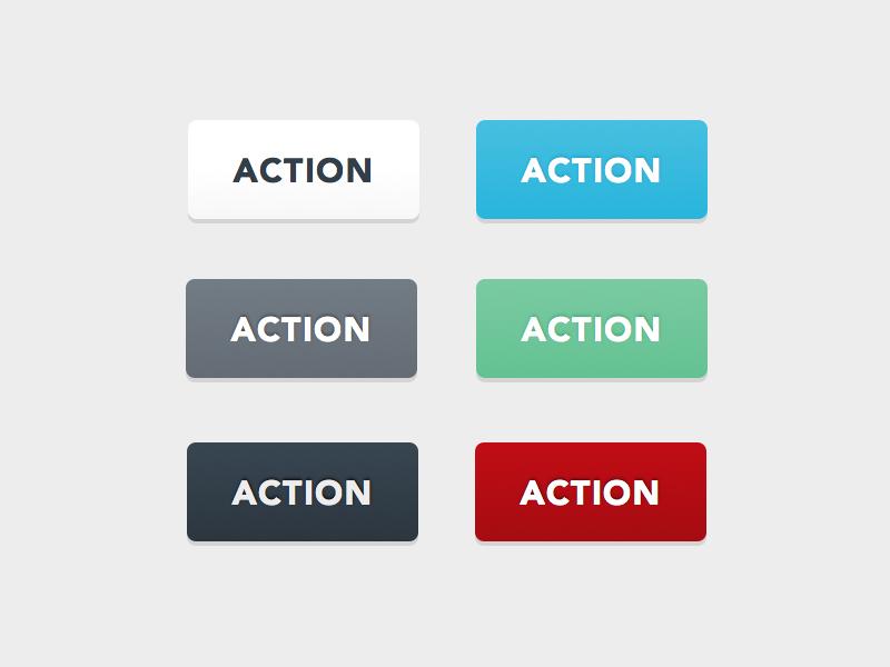 Buttons avenir uppercase button action