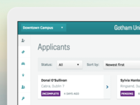 Applicants dashboard