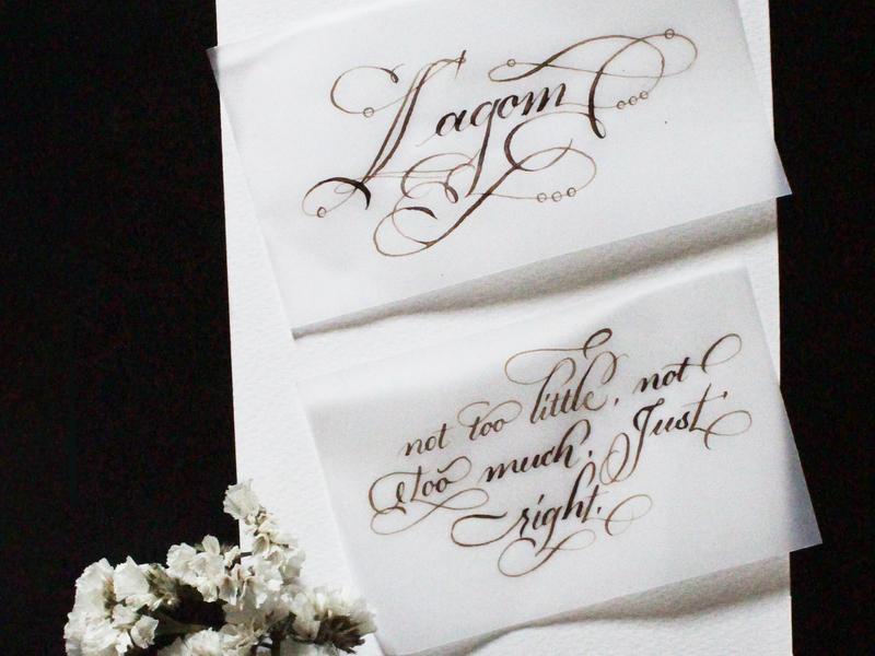 Lagom pointedpencalligraphy calligraphywithflourishing calligraphy priyankacallidesigns