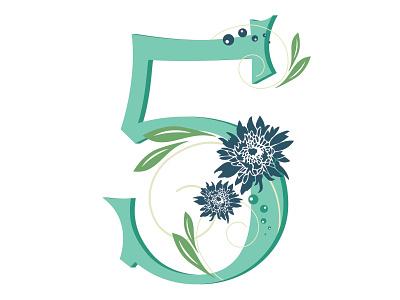 36 Days of Type... Number '5' 36daysoftype-5 digitalwork typogaphy 36daysoftype priyankacallidesigns