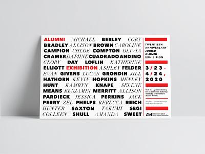 SCGSAH Poster     20th Anniversary Alumni Exhibition printed material school poster alumni exhibition visual art branding didot graphic design typography print collateral poster design exhibition