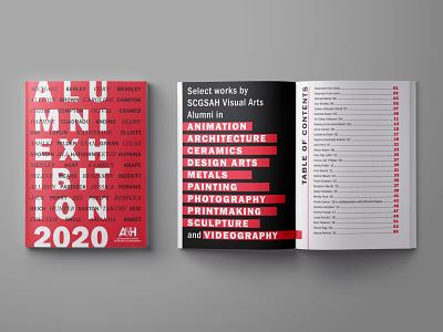 Alumni Exhibition Catalog visual arts exhibition typography graphic design magazine cover layout design publication design catalog