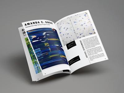 Alumni Exhibition Catalog booklet design publication alumni exhibition graphic design design magazine design exhibition visual arts catalog typography