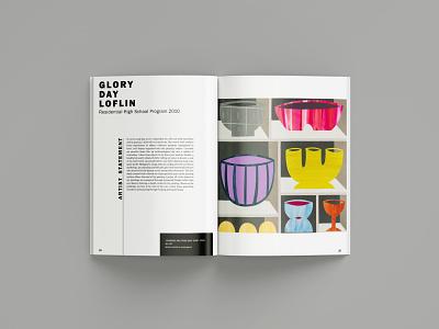 Alumni Exhibition Catalog layout design south carolina alumni visual arts exhibition publication design editorial design typography graphic design