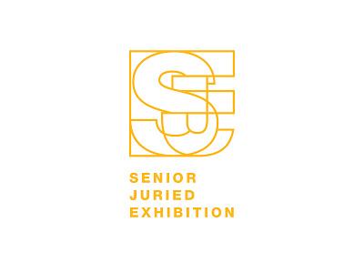 Senior Juried Exhibition Logo logo designer logo mark brand identity branding design icon vector logo letterforms letters line art logo design design typography graphic design school logo exhibition
