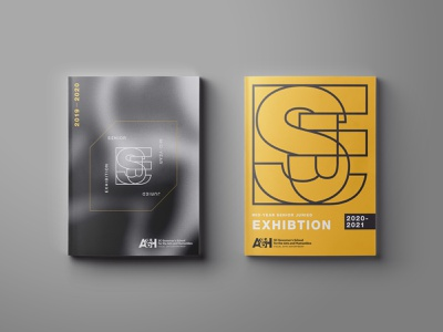 Senior Exhibition Catalog Covers flat icon exhibition design print catalogue catalog design school logo design publication design magazine cover line art typography branding design logo graphic design