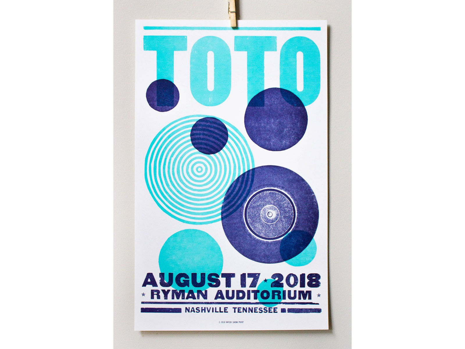 Toto Show Poster africa intern overlay musician transparency letterpress printing ryman printmaking printing letterpress design jefferson nashville bands music gig hatch show print gig poster show poster toto