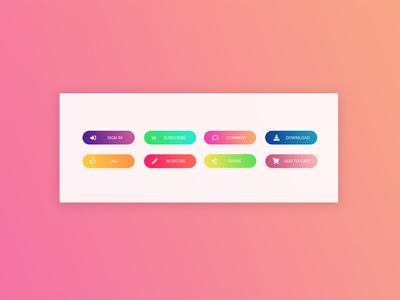 Gradient Buttons Collection webdesign buttons gradient color ui  ux ui