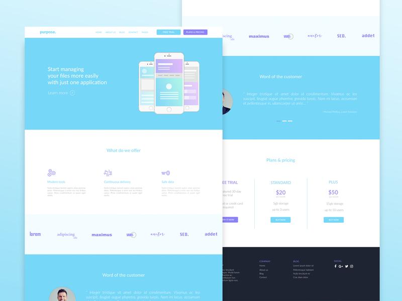 Purpose Landing Page landing page webdesign ui  ux ui