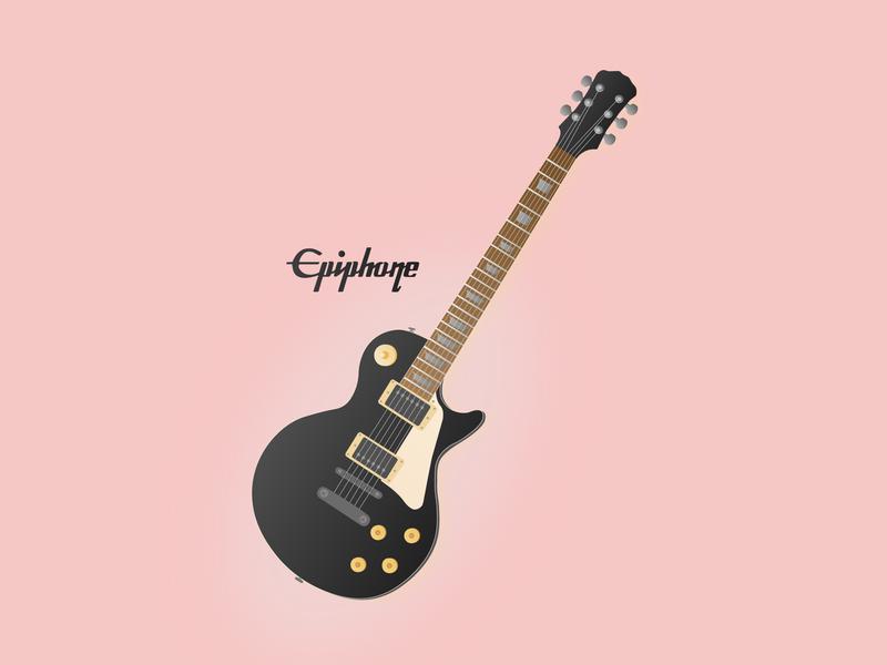 Epiphone Guitar Illustration design epiphone guitar vector illustration