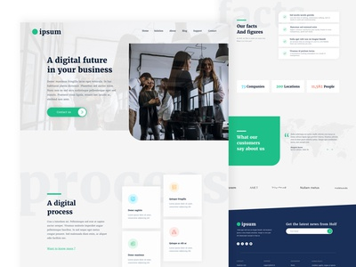 Website Homepage Concept vector adobe xd ui design web site programming web software bussines it company ux ui web design design