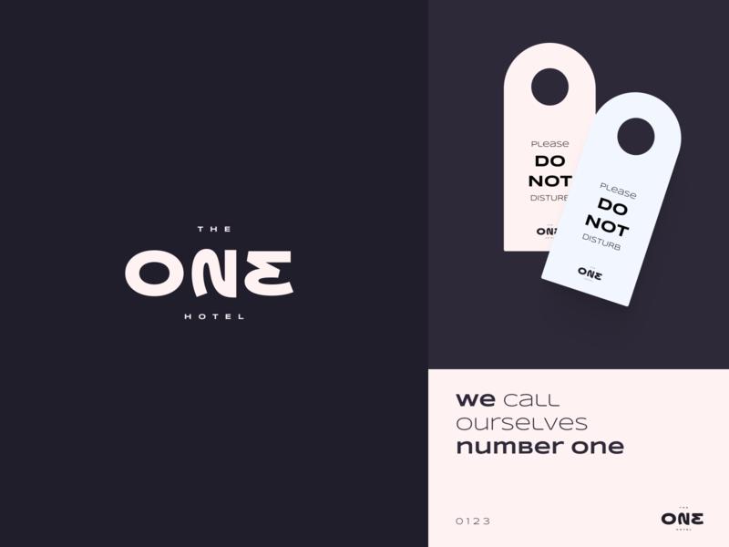 ONE 023 - Hotel logo concept