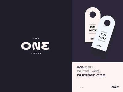 ONE 023 - Hotel logo concept debut one dribbble brand identity design clean brand typography flat mark luxary symbol minial identity logotype branding hotel branding concept logo hotel