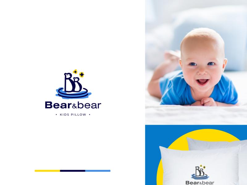 Bear&bear kids pillow store logotype