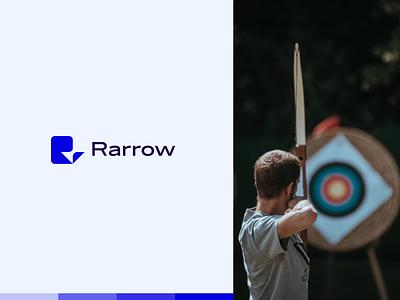 Rarrow - Archery Club modern logo arrow modern identity logotype minimal branding design branding logo clean brand identity brand design