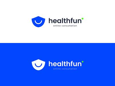 Healthfun - online consultation doctor health mask coronavirus medical clinic mark minimal identity clean branding design brand identity branding logo brand