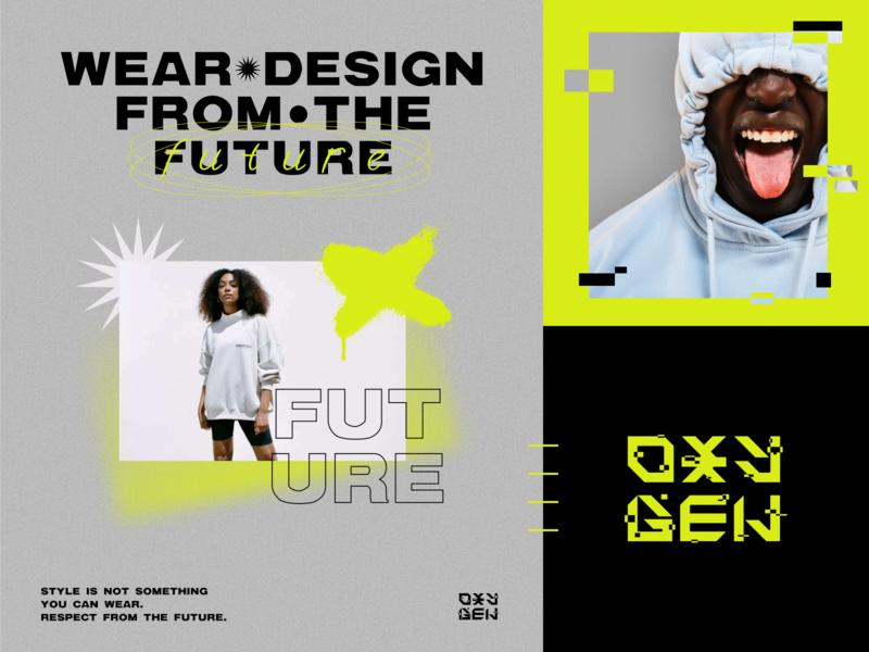 OXYGEN STREETWEAR branding style typography minimal clean mark streetwear wear concept identity branding design logotype design logo branding brand identity brand