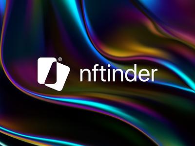 NFTinder - logo concept nft tinder logotype brand identity branding logo brand