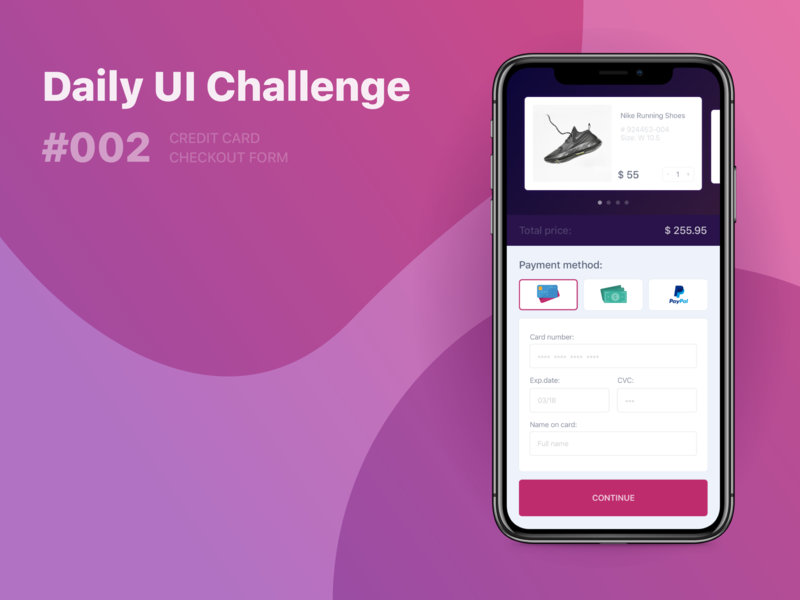Checkout Form daily ui 002 dailyui002 challenge checkout form checkout order app ux ui dailyui 002 dailyui