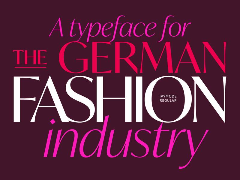 Ivymode Font magazine typography fashion