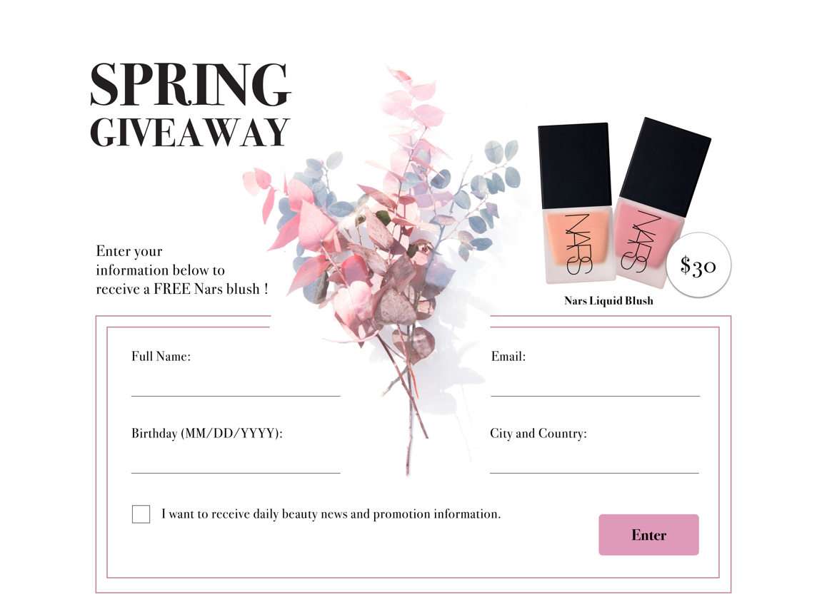 Giveaway promotion webdesignui beautyui ecommerceui giveawayui ui design dailyuichallange dailyui