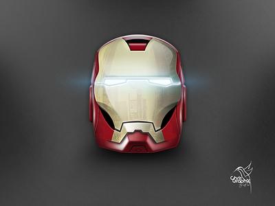 Ironman Helmet photoshop 3d icon helmet ironman iron man iphone gold red neon