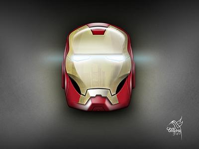 ironman helmet V2 photoshop 3d helmet iron man ironman iphone emojis icon