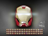 Ironman helmet emojis