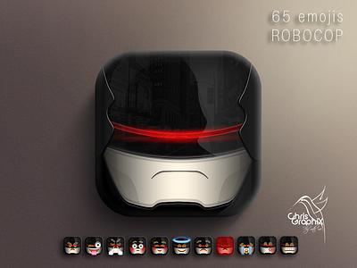 Robocop emojis emoticons emoticon apple iphone robocop icons icon photoshop