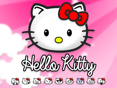 Hello kitty Emoji emoticons emoticon apple iphone ironman icons icon photoshop glyph emojis hello kitty
