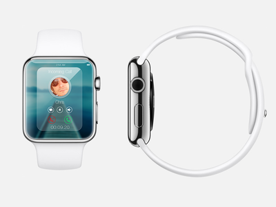 Incoming Call iWatch iwatch apple icon call app concept watch ui ux interface calling